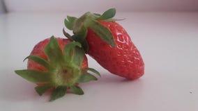 Rode strawberies stock afbeelding