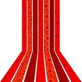 Rode strepen en cirkelsachtergrond Royalty-vrije Stock Foto's