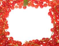Rode stroom als frame Stock Foto's