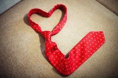 Rode stropdasvorm Royalty-vrije Stock Afbeelding