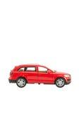 Rode stuk speelgoed auto Royalty-vrije Stock Afbeeldingen