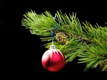 Rode stuk speelgoed cristmasboom royalty-vrije stock foto's