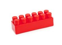 Rode stuk speelgoed kubus Stock Afbeelding