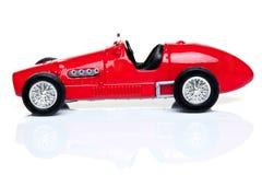Rode stuk speelgoed raceauto Royalty-vrije Stock Foto's