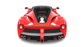 Rode Supercar - Achterstudiomening Royalty-vrije Stock Afbeelding