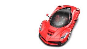 Rode Supercar - Hoogste Studiomening Stock Afbeeldingen