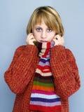 Rode sweater Royalty-vrije Stock Foto's