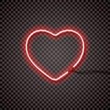 Rode T.L.-buis met draden, hartvorm Voor uw ontwerp stock illustratie