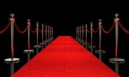 Rode tapijt en barrière vector illustratie