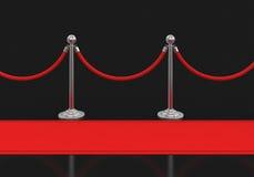 Rode tapijt en stangen Royalty-vrije Stock Foto