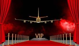 Rode tapijt Privé straal met Luxevip Royalty-vrije Illustratie