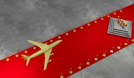 Rode tapijt Privé straal met Luxevip royalty-vrije stock foto's