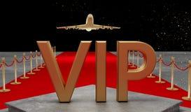 Rode tapijt Privé straal met Luxevip royalty-vrije stock afbeeldingen