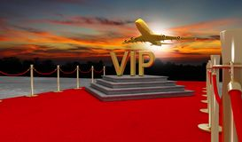 Rode tapijt Privé straal met Luxevip Vector Illustratie