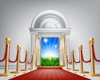 Rode tapijtdeur aan uw toekomst royalty-vrije illustratie