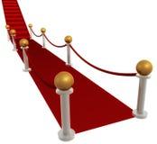 Rode tapijtgang Stock Afbeelding