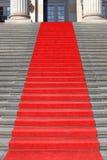 Rode tapijttreden, succes Stock Fotografie