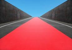 Rode tapijtweg royalty-vrije stock foto's