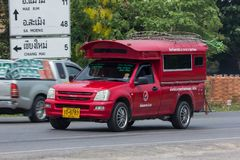 Rode taxi Chiang Mai De dienst in stad en rond Royalty-vrije Stock Fotografie