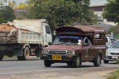 Rode taxi Chiang Mai De dienst in stad en rond Stock Foto