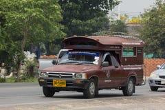 Rode taxi Chiang Mai De dienst in stad en rond Stock Foto's