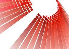 Rode technoachtergrond Royalty-vrije Stock Afbeelding