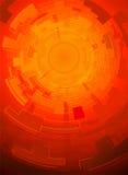 Rode technologieachtergrond Stock Illustratie