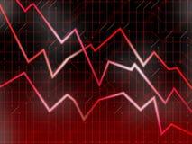 Rode technologiemarkten Royalty-vrije Stock Afbeelding