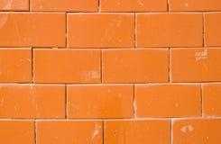 Rode Tegel glanzende muur Royalty-vrije Stock Foto