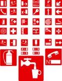 Rode tekens Stock Fotografie