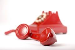 Rode telefoon Stock Fotografie