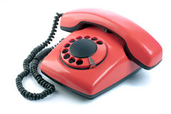 Rode telefoon stock foto's