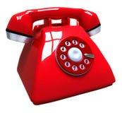 Rode telefoon Royalty-vrije Stock Fotografie