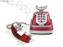 Rode Telefoon 2 Royalty-vrije Stock Afbeeldingen