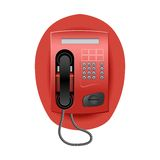 Rode Telefoon. Royalty-vrije Stock Afbeelding