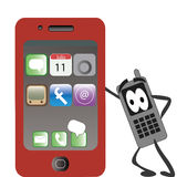 Rode telefoon Royalty-vrije Illustratie