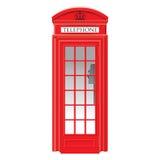 Rode telefooncel - zeer gedetailleerd Londen - Stock Fotografie