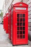 Rode telefooncellen Stock Afbeeldingen