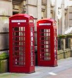 Rode telefooncellen Royalty-vrije Stock Foto