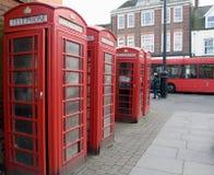 Rode telefooncellen Royalty-vrije Stock Afbeelding