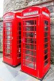 Rode telefooncellen stock foto's