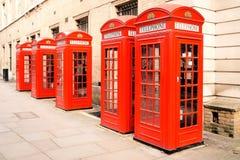 Rode telefoondozen Londen Royalty-vrije Stock Afbeeldingen
