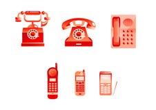 Rode telefoons Stock Afbeelding