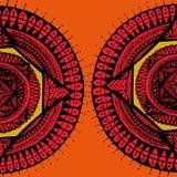 2 rode Tempel Mandala Stock Afbeelding