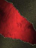 Rode textuur met zwarte randen Element voor ontwerp Malplaatje voor ontwerp Stock Fotografie