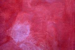 Rode textuur van de sjofele achtergrond van de verfgipspleister Stock Afbeeldingen