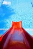 Rode toboggan Stock Afbeeldingen