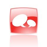 Rode toespraakbellen Stock Foto's