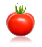 Rode tomaat. Stock Afbeeldingen