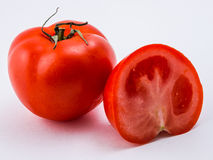 Rode tomaat op een witte achtergrond Stock Afbeelding
